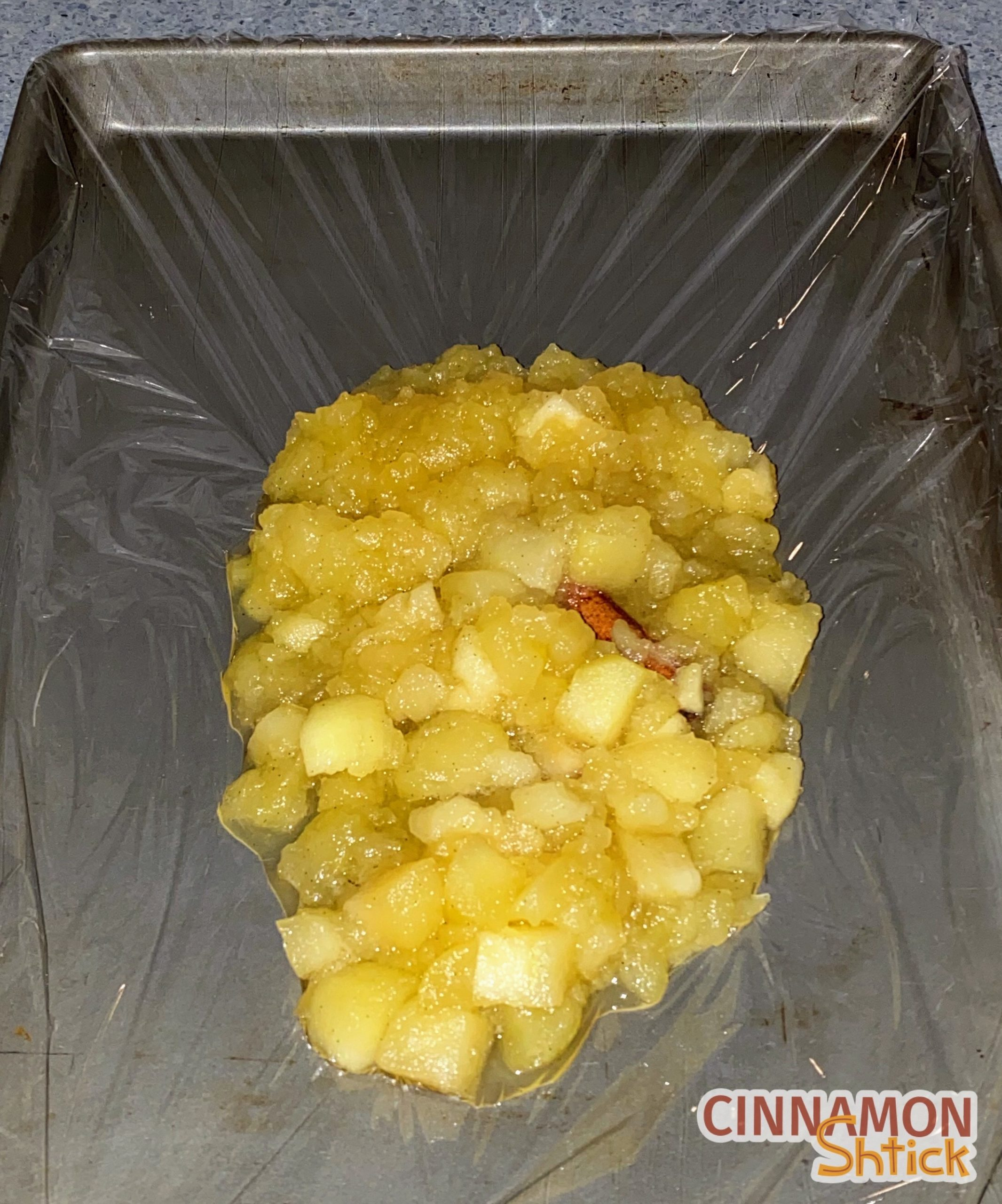cooked apple filling