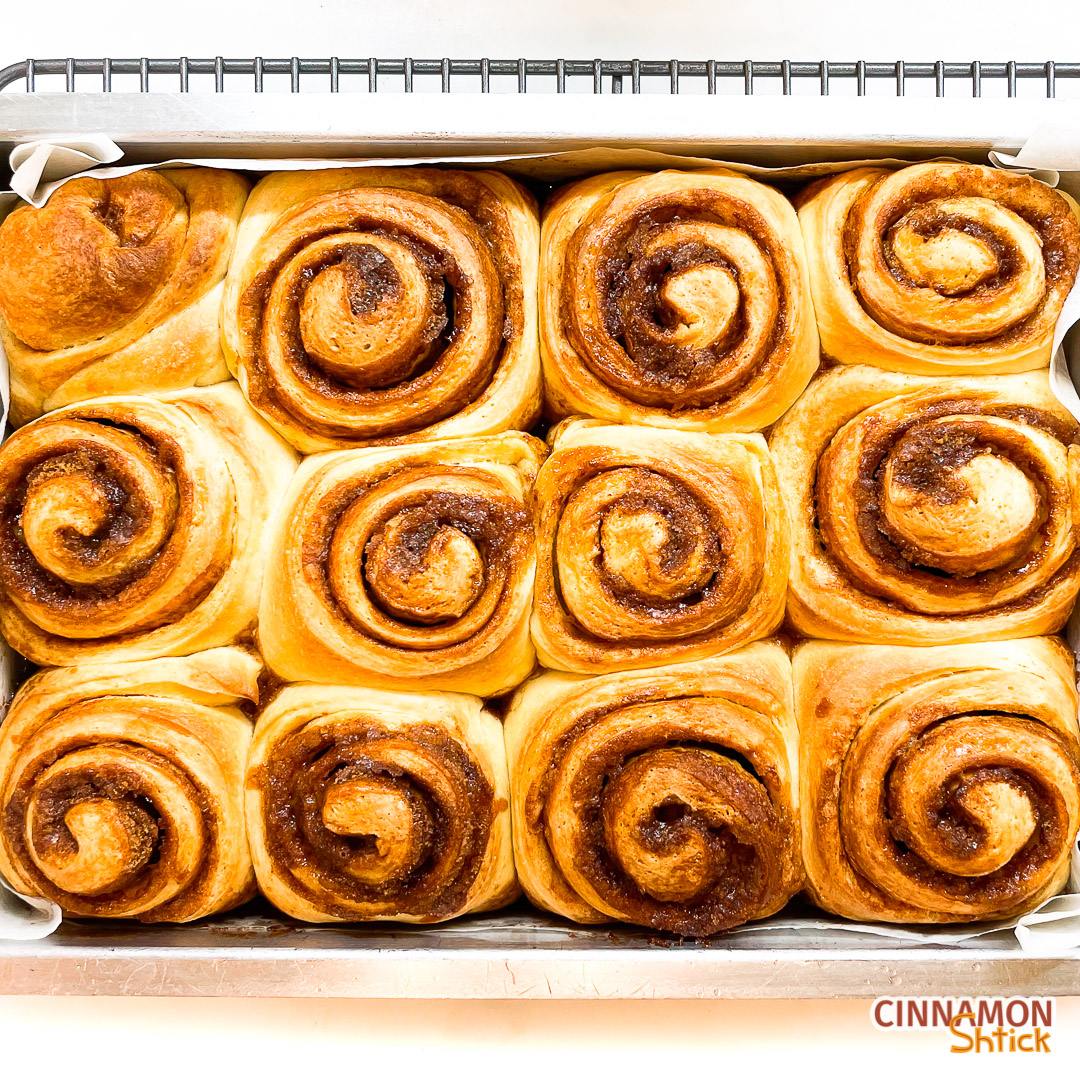Cinnamon rolls just out of the oven